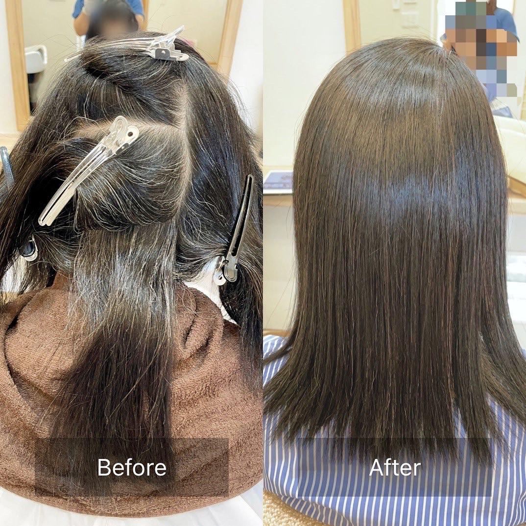 アイロン技術で自然な前髪へ